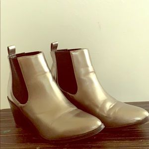 Madden Girl Silver Barbiee Boots